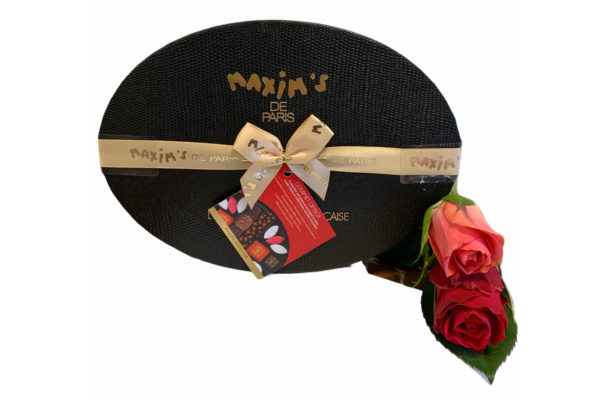 Red Roses and Maxim's Gourmet Gift Set